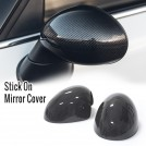 Carbon Fibre Mirror Cover Stick-on For BMW MINI - Electricity