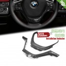 Carbon Fibre Steering Wheel Cover Trim For BMW F20 F21 F22 F23 F30 F31 F32 F33 F34 F36 [SPORT]