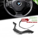 Carbon Fibre Steering Wheel Cover Trim For BMW F20 F21 F22 F23 F30 F31 F32 F33 F34 F36 [STD]