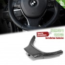 Carbon Fibre Steering Wheel Cover Trim For BMW 5 Series F10 F11 [SPORT]