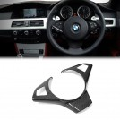 Carbon Fibre Steering Wheel Cover Trim For BMW 5 Series E60 M5 Pre & LCI - 2005-2010