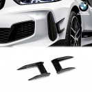 Genuine BMW M Performance Gloss Black Front Bumper Flaps For Bmw 1 Series F40 (2019-2020)