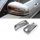Chrome Side Mirror Cover Trim For Mercedes Benz W204 W212