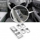 Matte Chrome Window Power Switch Cover Set For Mercedes Benz W204 W212 W207 W166 W176 W246 X204 W117