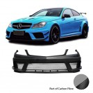 EURSPEC FRP Full Wide Body Kit For Mercedes Benz C Class W204 Facelift - 2012-2015 (For Standard / AMG Bumper)