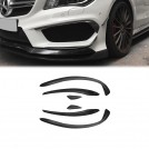 EURSPEC Carbon Fibre Front Diffuser Type R For Mercedes Benz CLA Class W117 Pre Facelift (6pcs) 2013-2016