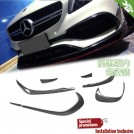 Carbon Fibre Front Diffuser Type A For Mercedes Benz A Class W176 (7pcs) Facelift 2016- [AMG/A45]