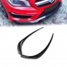 EURSPEC Carbon Fibre Front Diffuser TYPE R For Mercedes Benz Cla Class W117 Pre - Facelift (2PCS) - 2013-2016 (CLA45/AMG)