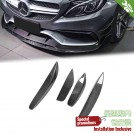 EURSPEC Carbon Fibre Front Diffuser Fin For Mercedes Benz C Class W205 Sedan / C205 Coupe - 2014 - 2016 (C63 AMG Bumper)