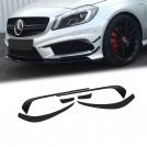 OES Upgrade Accessories Front Diffuser Kit (6PCS) A45 AMG Edition 1 For Mercedes Benz A Class  W176  Pre Facelift - 2012-2015 (AMG / A45)