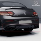 Genuine OEM Mercedes Benz C63 AMG Nightpackage Rear Diffuser W/tip For C Class W205 Coupe & Convertible Pre&Facelift - 2015-2019 (For AMG Bumper)