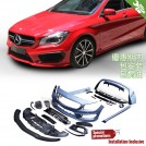 OES PP Full Body Kit 45 Style For Mercedes Benz CLA Class W117 Pre - 2013-2016