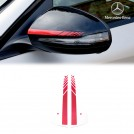 Genuine Mercedes Benz C63 AMG Edition One Red Mirror Cover Trim Sheet For  C Class W205