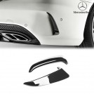 Genuine OEM Rear Side Diffuser For Mercedes Benz C Class W205 Sedan - Gloss Black (AMG Bumper)
