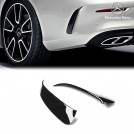 Genuine OEM Rear Side Diffuser For Mercedes Benz C Class A205 C205 Coupe - Gloss Black (AMG Bumper)
