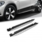 Genuine OEM Aluminum Side Foot Step / Running Board Set For Mercedes Benz GLC Class X253 C253 - 2016 - 2018