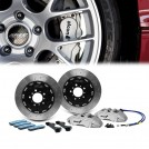 ALCON Front 6 Pot 380 Disc Brake Kit Set - Silver Grey (left/right)