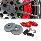 Genuine OEM AMG E63 CLS63 Front 6 Pot Brake Kit W/ 360mm Disc (Red) For Mercedes Benz W204 W212 W207 W218