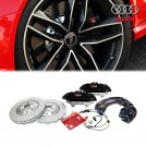 Genuine OEM AUDI RS Front Brake Kit  6 pot  (Black) For A4 S4 B8 B9 / A5 S5 RS5 B8 B9 / A6 S6 4F 4G 7V / A7 S7 4G