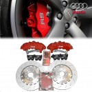 Genuine OEM RS Front Brake Kit 8 Pot (Red) Calipers W/370mm Brake Disc For Audi TT TTS TTRS/ A3 S3 8P 8V / VW Golf 5 Golf 6 Golf 7/ GTI R32 R20 Passat B8