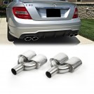 Mercedes Benz Dual Twin Oval AMG Style Exhaust Tips For Below 2000cc