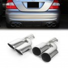 Mercedes Benz Dual Twin Oval AMG Style Exhaust Tips For Above 2500cc