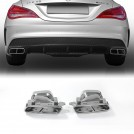 Square Exhaust Tip CLA45 Style For Mercedes Benz CLA Class W117 2013-2016 (□□--□□)