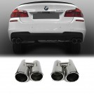 BMW Exhaust Tip For 5 Series F10 M-Tech (535 to Twin Exhaust Dual Outlet O--O --> OO--OO)