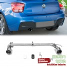OES BODY PARTS Dual Outlet Exhaust For BMW 1 Series F20 O-O - 2011-2015 (M-Tech)