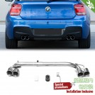 OES BODY PARTS Dual Outlet Exhaust For BMW 1 Series F20 OO-OO - 2011-2015 (M-Tech)