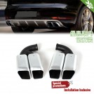 Quad Exhaust Tip (V8 Engine) For Porsche Cayenne 958 Pre Facelift (2011-2014)