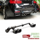 OES Quad Exhaust Tip For BMW 3 Series F30 F31 (320 To M3 Style oo-oo) - 2012-2017 (OES M3 Bumper)