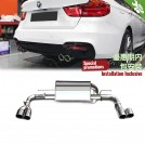 OES Exhaust Muffler Quad Tip W/ Diffuser For BMW 3 Series GT F34 328i To M-Tech OO-OO - 2013-2016 (MTEC)