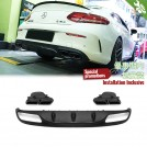 Exhaust Tip (Black Tip) W/ Rear Diffuser  C63 Style For Mercedes Benz C Class W205 C205 Coupe - 2014-2018