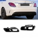 Genuine OEM C63 AMG Exhaust Tip For Mercedes Benz W205 C63 - Gloss Black (C63 Bumper)