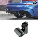 Genuine BMW  G20 G21 3 Series Gloss Black Chrome Tailpipe Exhaust Tip