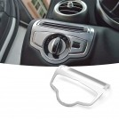 Brushed Aluminium Head Light Switch Cover For Mercedes Benz W205