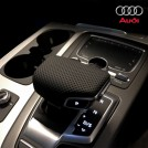 Genuine Perforated Leather Shift Knob Cover Replacement/gear Selector Switch Cover (rhd) For Audi A4 A5 B9 Q7