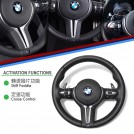 Genuine OEM Leather Steering Wheel M3 Style (TRI Line) For Bmw F20 F21 F22 F23 F45 F30 F31 F32 F33 F34 Gt F36 X3 F25 X4 F26 X5 F15 X6 F16