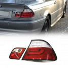 BMW LEDs Rear Tail Lamp Light Red/ Clear Lens w/ indicator for 3 Series E46 LCI 2DR (RHD / LHD) 2003-2006