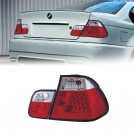 BMW LEDs Rear Tail Lamp Light Red/ Clear Lens for 3 Series E46 PRE LCI 4DR (RHD / LHD) 1998-2001