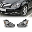 Projector Front Head Light Lamp w/ DRL Function w/ Motor For Mercedes Benz C Class W204 Pre Facelift 2007-2011 (RHD)