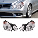 Projector Front Head Light Lamp w/ Motor w/ LED Rings For Mercedes Benz W211 Pre Facelift 2002-2005 (RHD)