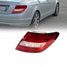 Mercedes Benz LEDs Rear Tail Lamp Light Red/ Clear Lens w/ indicator for W204 - 2007-2011 (RHD / LHD)