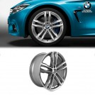 "Genuine OEM 19"" 704m Double Spoke Light Alloy Rim Ferricgrey  Wheel For BMW F30 F31 F32 F33 F36"