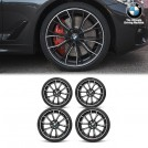 "Genuine BMW 20"" LA Wheel M Performance Double Spoke Matt Black 669m  Wheel/tire Set For  5 Series G30 G31 (FORGED)"