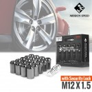MISSION SPEED M12x1.5 Slim Type Open End Tuner Wheel Lug Nut