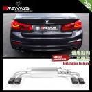 REMUS Axle Exhaust Rear Muffler W/ Tip (S01/S02/S03) For BMW 5 Series G30 520i 530i 540i - 2017-2018