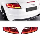 Led Rear Tail Lamp Light (Red Base) W/ Dynamic Led Indicator W/ Led Reverse Light For Audi TT / TTS 8J MK2 Pre & Facelift - 2006-2014