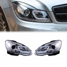 Mercedes Benz Projector Front Head Lamp Light Silver Base With Motor With Indicator for W204 (RHD) Facelifted (2012-2014)